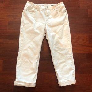 Nine West Boho 10/30 women's white cropped pants